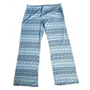 Gap Body Blue & White Yoga Pants Size XL NWOT